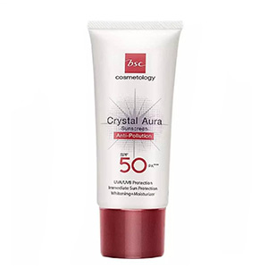BSC CRYSTAL AURA SUNSCREEN SPF 50 PA+++ ANTI-POLLUTION ครีมกันแดด