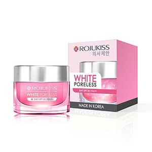 ครีมหน้าขาว Rojukiss White Poreless Advanced Repair Day Cream