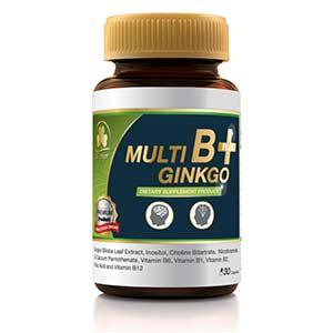 อาหารบำรุงสมอง Clover Plus Multi B+Ginkgo