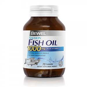 อาหารเสริมบำรุงสมอง Bewel Salmon Fish Oil