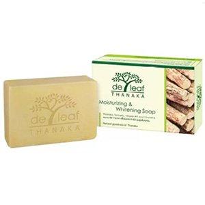 สบู่ก้อน De Leaf Thanaka Moistruizing & Whitening Soap