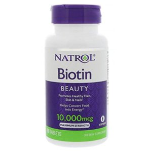 Natrol,-Biotin-10000-mcg-(100-เม็ด)-วิตามิน-ผม