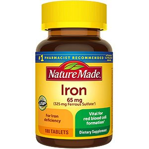 Nature Made Iron 65 mg 180 Tablets